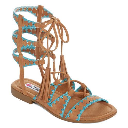 2 Lips Too Whitney Womens Gladiator Sandals