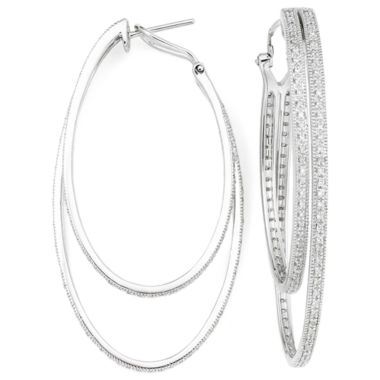 jcpenney.com | Vintage Inspirations™ 1/3 CT. T.W. Diamond Double-Hoop Earrings