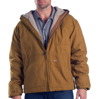 jcpenney.com | Dickies® Sanded Duck Sherpa-Lined Hooded Work Jacket