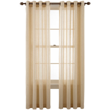 jcpenney.com | MarthaWindow™ Candid Stripe Grommet-Top Sheer Panel
