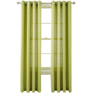 jcpenney.com | MarthaWindow™ Provence Weave Grommet-Top Curtain Panel