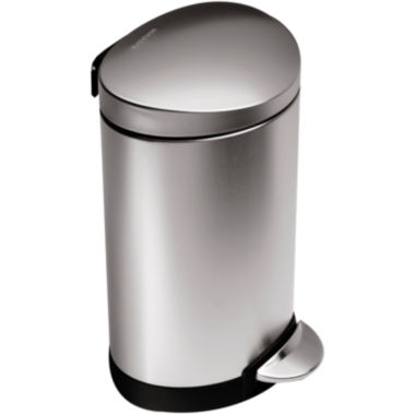 jcpenney.com | simplehuman® 6L Mini Semi-Round Step Trash Can