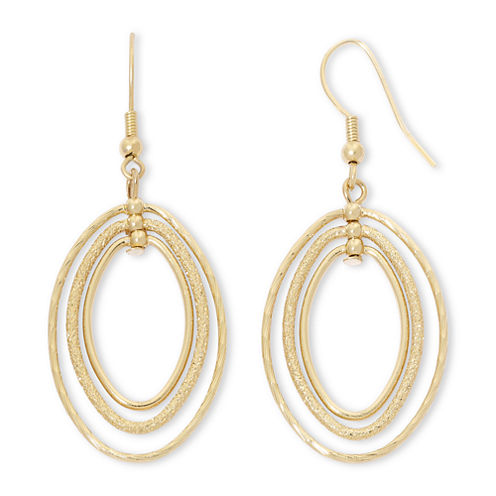Liz Claiborne® Gold-Tone, Orbital Drop Earrings