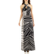 Bisou Bisou® Sleeveless Two-Tone Maxi Dress