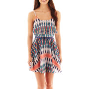 My Michelle Sleeveless Print Dress