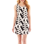 My Michelle Sleeveless Bow-Back Print Dress