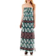 City Triangles® Strapless Belted Blouson Maxi Dress