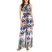 nicole by Nicole Miller® Sleeveless Floral Print Maxi Dress