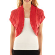 Robbie Bee® Short-Sleeve Crochet Shrug