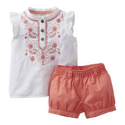 Carter's® Embroidered Short Set - Girls newborn-24m