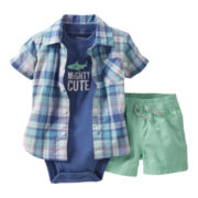 Carter's® Shark 3-pc. Short Set - Boys newborn-24m