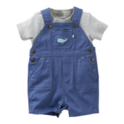 Carter's® Whale 2-pc. Shortall Set - Boys newborn-24m