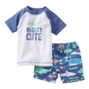 Carter's® Shark Rashguard and Trunks - Boys newborn-24m