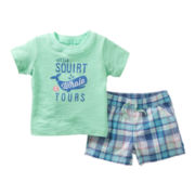 Carter's® Shark Short Set - Boys newborn-24m
