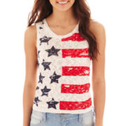Arizona Cropped Graphic Tank Top
