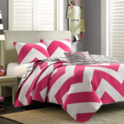 Mi Zone Virgo Chevron Quilt Set