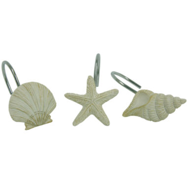 jcpenney.com | Bacova Coastal Moonlight Shower Curtain Hooks