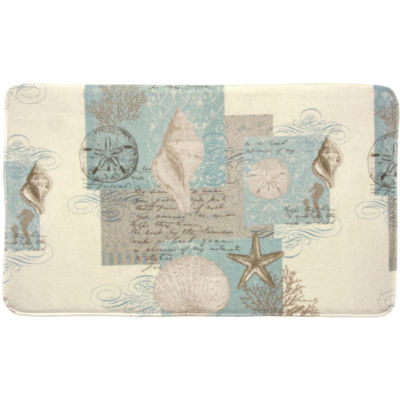 Bacova Coastal Moonlight Memory Foam Bath Rug