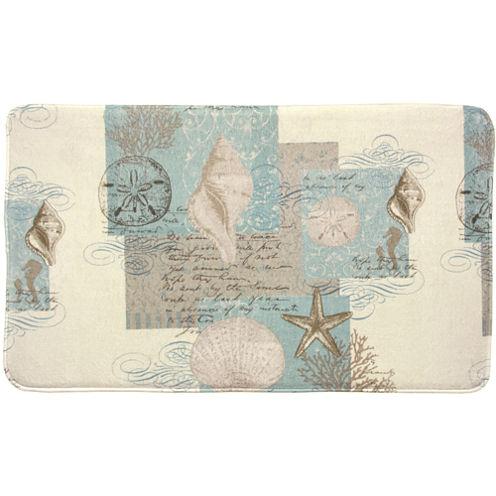 Bacova Coastal Moonlight Memory Foam Bath Rug