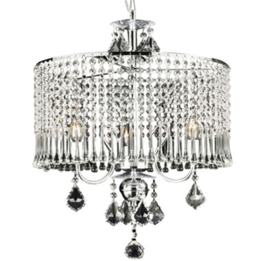 jcpenney.com | Gallery 3-Light Chrome and Crystal Chandelier - Crystal Shade
