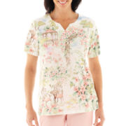 Alfred Dunner® Garden District Scenic Print Top