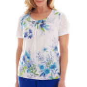 Alfred Dunner® Isle of Capri Burnout Print Top