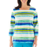 Alfred Dunner® Isle of Capri Striped Knit Top