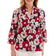 Alfred Dunner® Santa Monica Daisy Print Shirt