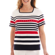 Alfred Dunner® Santa Monica Striped Knit Top