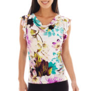 Worthington® Flutter-Sleeve Cowlneck Top - Tall