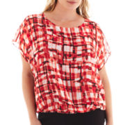 Alyx® Short-Sleeve Print Blouse - Plus