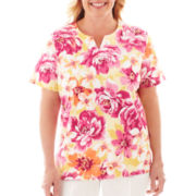 Alfred Dunner® Classics Abstract Floral Knit Top - Plus
