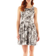 Danny & Nicole® Sleeveless Cutout Fit-and-Flare Dress