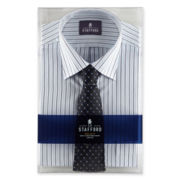 Stafford® Boxed Easy-Care Dress Shirt & Tie Set