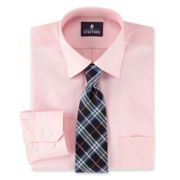 Stafford® Boxed Easy-Care Dress Shirt & Tie Set–Big & Tall