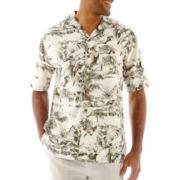 Island Shores™ Short-Sleeve Silk Floral Shirt