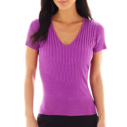Worthington® Ribbed V-Neck Sweater