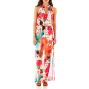Bisou Bisou Sleeveless V-Neck Blouson Maxi Dress