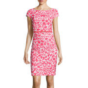 Alyx® Cap-Sleeve Floral Print Sheath Dress