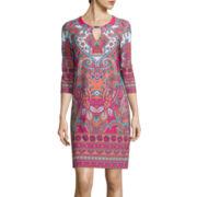 Tiana B. 3/4-Sleeve Paisley Print Shift Dress