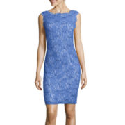 Scarlett Sleeveless Sequin Lace Sheath Dress