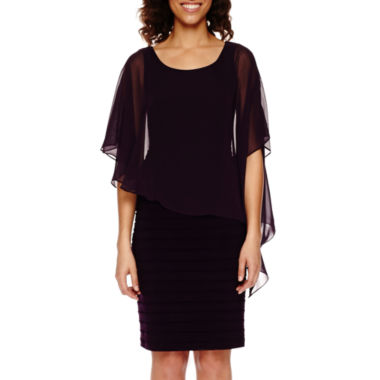jcpenney.com | Scarlett Cape Sheath Dress