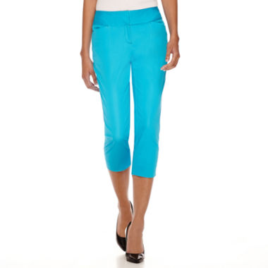 jcpenney.com | Worthington® Wide-Waistband Cropped Pants - Tall