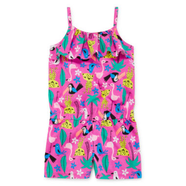jcpenney.com | Okie Dokie® Sleeveless Popover Romper - Toddler Girls 2t-5t