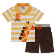2-pc. Short-Sleeve Polo and Shorts Set - Toddler Boys 2t-4t
