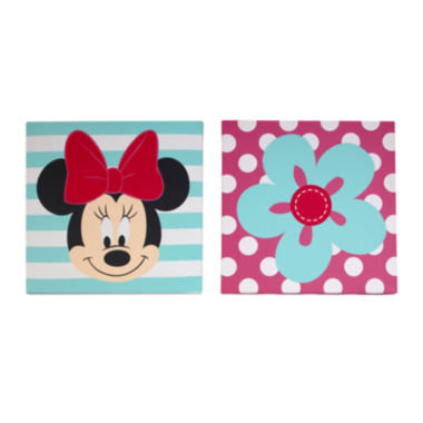 jcpenney.com | Disney Baby Minnie Mouse 2-pc. Wall Art