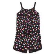 Okie Dokie® Sleeveless Ruffle-Hem Romper - Preschool Girls 4-6x