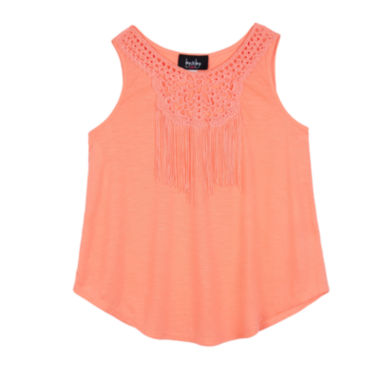 jcpenney.com | by&by Girls Crochet Fringe Knit Tank Top - Girls 7-16