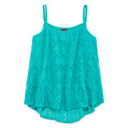 Arizona Allover Lace Tank Top - Girls 7-16 and Plus