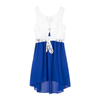 jcpenney.com | by&by Girl Lace Tie-Front Skater Dress - Girls 7-16